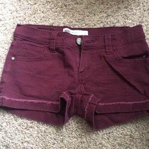 Burgandy shorts